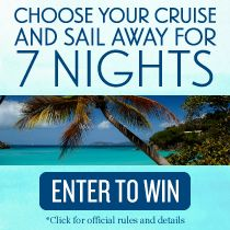 Enter for a chance to win a 7-night cruise with a $2,000 shopping spree!whoo hoo ..how wants to go ?