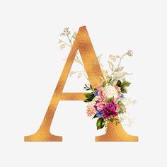 Monogram Wallpaper, Alphabet Wallpaper, Alphabet Letters Design, Alphabet Art, Flower Letters, Flower Frame, Motifs Islamiques, Stylish Alphabets, Floral Logo