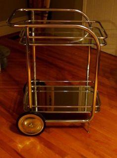 Sweet, Modern Bar Cart