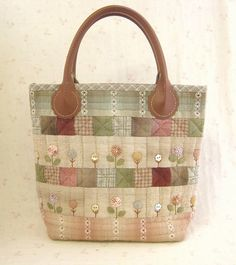 Japanese Patchwork, Japanese Bag, Patchwork Bags, Quilted Bag, Sweet Bags, Fabric Bins, Small Quilts, Cloth Bags, Handmade Bags