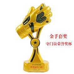 2016 futebol GOALKEEPER Golden Glove Award Copa do Mundo melhor goleiro troféu modelo 1: 1 resina modelo melhor goleiro 20CM