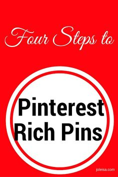 Pinterest rich pins is the way to go if you want to have repeat visitors. Follow these four steps and pics to get the job done in no time flat!