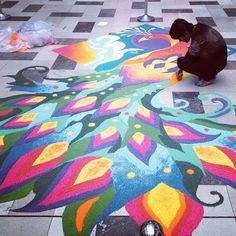 """instagram """"I was always fascinated with rangoli designs and I really wanted to try it out,"""" says Kuala Lumpur artist Haris Rashid (@harisrashid)"""