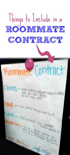 A super simple college dorm room roommate agreement anyone can use - roommate agreement