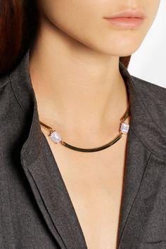 J.Crew|Gold-tone crystal necklace|NET-A-PORTER.COM