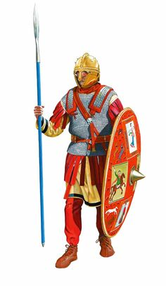 Roman soldier, second half of the century. Ancient Rome, Ancient History, Roman Sword, Roman Warriors, Roman Legion, Empire Romain, Roman Soldiers, Roman History, Dark Ages