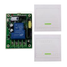 Smart Home AC85V- 250V 110V 220V 3000W RF Wireless Remote Control Switch System For Light Lights With 2PCS Wall Transmitter