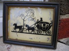 old vintage silhouette stage coach