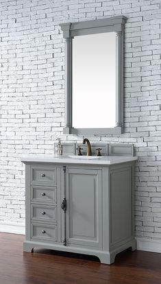 James+Martin+Providence+(single)+36-Inch+Urban+Gray+Transitional+Bathroom+Vanity+With+Top+Options