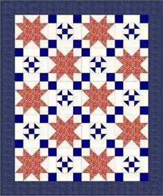 Cottage Charm free lap quilt pattern