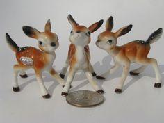bone china miniature animals | ... tiny bone china forest animals, vintage miniature animal figurines #3