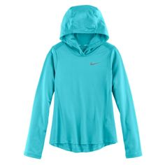 Girls 7-16 Nike Dri-FIT Pullover Hoodie, Size: Medium, Blue Other