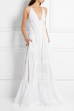 Roberto Cavalli | Broderie anglaise cotton-voile gown | NET-A-PORTER.COM