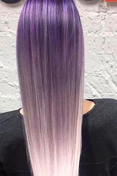 Purple ombre hair looks breathtaking and alternative color variations are surely mainstream nowadays. Are you ready to choose your perfect purple combo? Purple Ombre, Silver Ombre Hair, Brown Ombre Hair, Ombre Hair Color, Lavender Hair, Lilac Hair, Pastel Hair, Blue Hair, Beautiful Haircuts