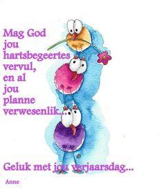 Happy Birthday Messages, Birthday Wishes, Birthday Cards, Happy B Day, Afrikaans, Pills, Smurfs, Amen, Birthdays