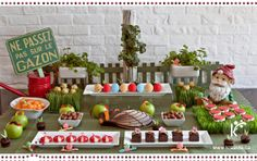 Kréavie - Sweet table in Montreal - Bug themed baby shower