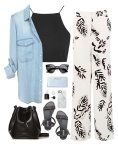"""""""Untitled #210"""" by hidden-treehouse ❤ liked on Polyvore featuring Smith/Grey, Topshop, Warehouse, Rachael Ruddick, MICHAEL Michael Kors, Uncommon and Essie"""