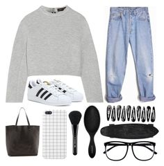 """""""// a r a b e l l a //"""" by liamschoco on Polyvore featuring moda, Proenza Schouler, Levi's, adidas, Madewell, Sephora Collection, H&M e MAC Cosmetics"""