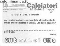 Calciatori 2015-2016: Retro Figurina n. 811 Pedro Costa Ferreira - Alessio Sestu