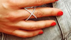 Criss Cross anneau tailles 6.5 à 11 925 par CollectionsJewellery