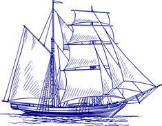 Segelschiff, Schiff, Meer, Boot