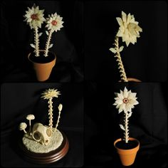 Bone flowers make great gifts! All of these are available now at ForgottenBoneyard.com