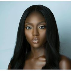 Melanin glowing! Makeup by @flawlessfacesbyjane #darkskinnedbeauty #melanin #hair #makeup #pretty