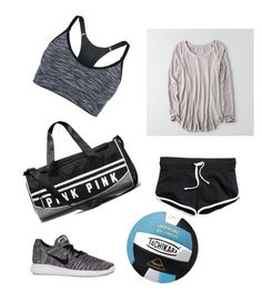 """""""Volleyball practice"""" by hope609-1 on Polyvore featuring American Eagle Outfitters and NIKE"""