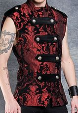 Mens Legion Vest by Shrine Clothing Gothic Dresses