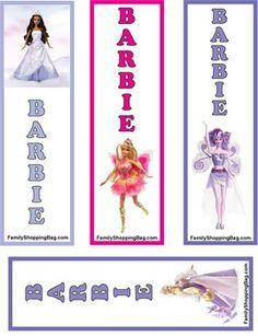 Barbie Princess Bookmark, Barbie, Bookmarks - Free Printable Ideas from Family Shoppingbag.com