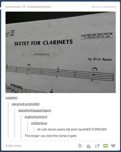 Not that funny except for the writers name. Dick Hymen it's just sad Music Jokes, Music Humor, Funny Music, Band Nerd, Marching Band Memes, Funny Jokes, Hilarious, Funny Texts, Hymen