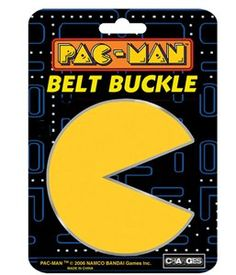 Pac-Man Belt Buckle with Chrome