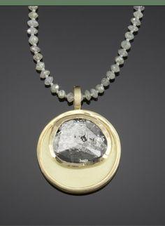 michele mercaldo diamond slice necklace