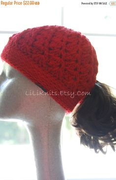 A personal favorite from my Etsy shop https://www.etsy.com/listing/160104162/on-sale-womens-crochet-ponytail-hat
