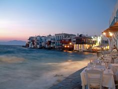 Mykonos at dusk - Mykonos, Kyklades I love Greece!