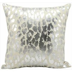 Shop for kathy ireland Metallic Leopard Silver Throw Pillow (18-inch x 18-inch) by Nourison. Free Shipping on orders over $45 at Overstock.com - Your Online Home Decor Outlet Store! Get 5% in rewards with Club O!