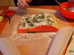 Bocconcini di salmone sotto sale