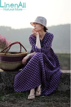 Find More Dresses Information about Natural Dyeing clothing women's linen and silk 100% handmade natural grape dyeing brief  dot loose dress robe LinenAll YIJIU,High Quality clothing yoga,China dye cushions Suppliers, Cheap clothing dye from LinenAll on Aliexpress.com