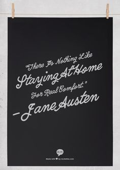 Inspirational Home Quotes - Sometimes staying in at home is just nice.