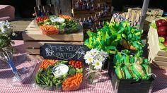 Farm Party veggie platters and fun handmade treats http:// www.ocfleurish.com