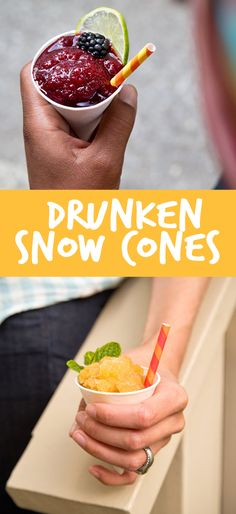 Boozy Snow Cones: 3 Easy Recipes You Can Make Today! Make the most of hot weather with these sweet adult treats; Blackberry-Lime RIckey Snow Cones, Peach Bourbon Smash Snow Cones, and Espresso-Rum Snow Cones with Whipped Cream, yum!