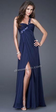 One shoulder strap dress