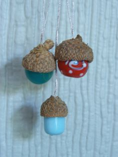 madebyjoey: autumn creativity #2 - glass bead acorns
