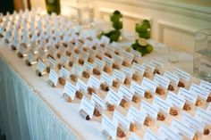 Wedding name cards in wine corks... loved this!!!