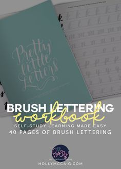 Brush Pen Lettering has never been easier with my new workbook, Pretty Little Letters. I have developed a 40-page workbook to give you a basic formation of letters and how to form them. While this is not an intensive workbook like my ecourse, Becoming a Brush Lettering Badass, it certainly can get you started with minimal investment. Participants in my e-course do get this as an added bonus - FREE! Check it out!
