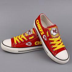 0826ed752fa8 Kansas City Chiefs Converse Style Sneakers - http   cutesportsfan.com kansas