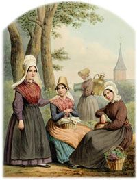 Traditional dress of Noord-Brabant, Netherlands