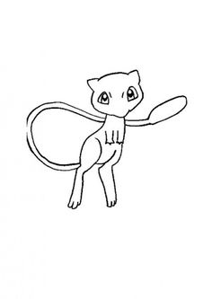 Pokemon mewtwo coloring pages manga pinterest for Mew coloring pages
