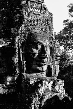 Head in the Bayon, Angkor complex,Cambodia. Click on the picture above to see more of my Angkor Wat pictures!