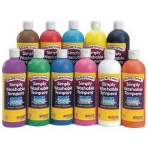 Discount School Supply - Colorations® Simply Washable Tempera Paints, 16 oz. - Set of 11 Classic Colors